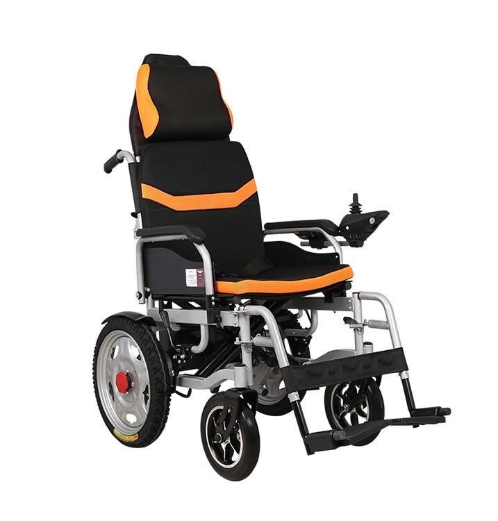 Складная инвалидная электроколяска MIRID D6036A (съемный подголовник)
