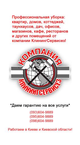 Уборка квартир Вышгород – КлинингСервисез