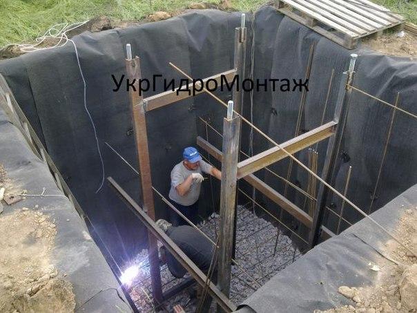 Устройство фундамента под водонапорную башню Рожновского ВБР, реставрация