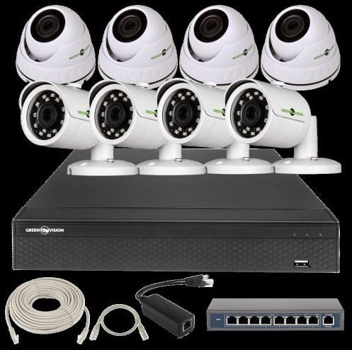 IP Комплект Відеоспостереження GV-ІР-К-L28/08 1080 P