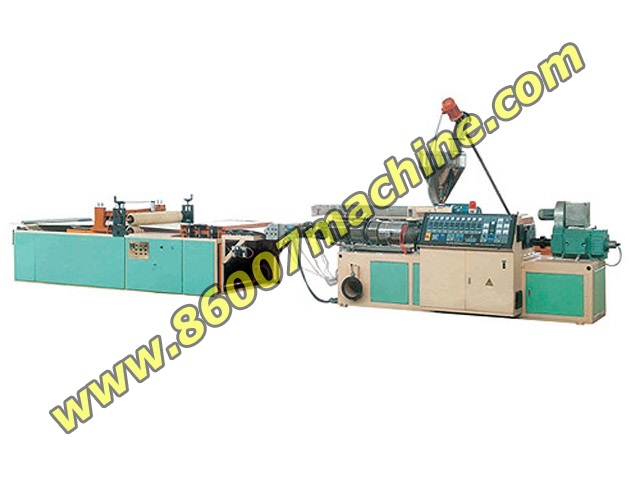Линия производства волнообразной и трапециевидной плиты из ПВХ