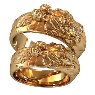 Эксклюзивные золотые обручальные кольца