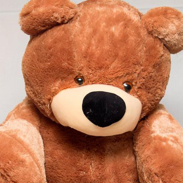Мягкая игрушка медведь «Бублик» 45 см. Коричневый