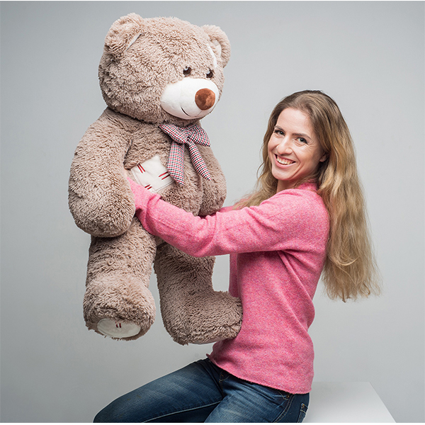 Мягкая игрушка Мистер Медведь с латками 100 см. Капучино.