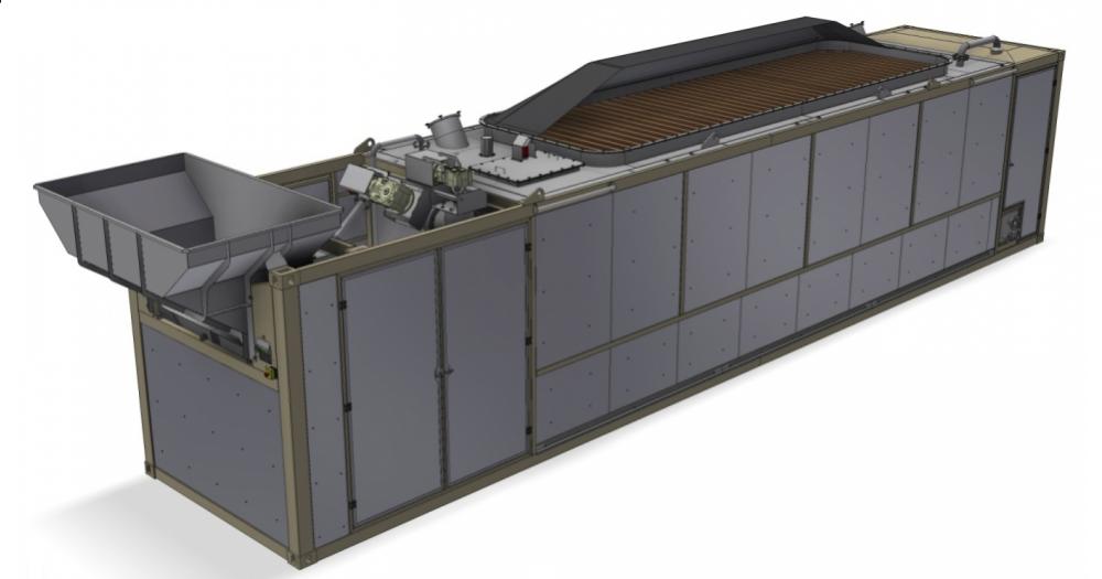 Die mobile Biogasanlage im Volumen von 80 Kubikmetern