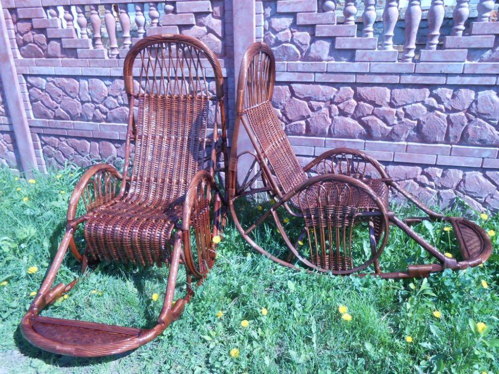 """Плетеное из лозы кресло качалка """"Закат-5"""""""